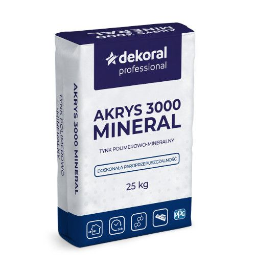 Tynk mineralno-polimerowy Akrys 3000 Mineral