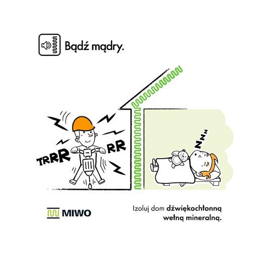 MIWO, dźwiękoizolacyjna wełna mineralna